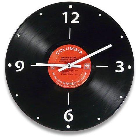 reloj de pared con disco de vinilo