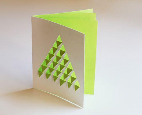 tarjeta navideña navidad geometrica minimalista colorida fácil doy