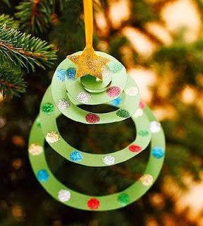 Tarjeta navideña de navidad di para niños desplegable como adorno del árbol