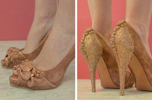 Zapatos customizados para la fiesta de Nochevieja