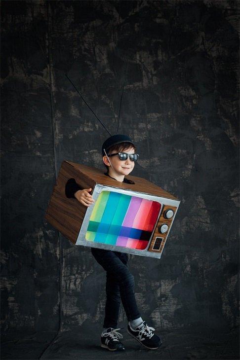 Disfraz retro de televisión