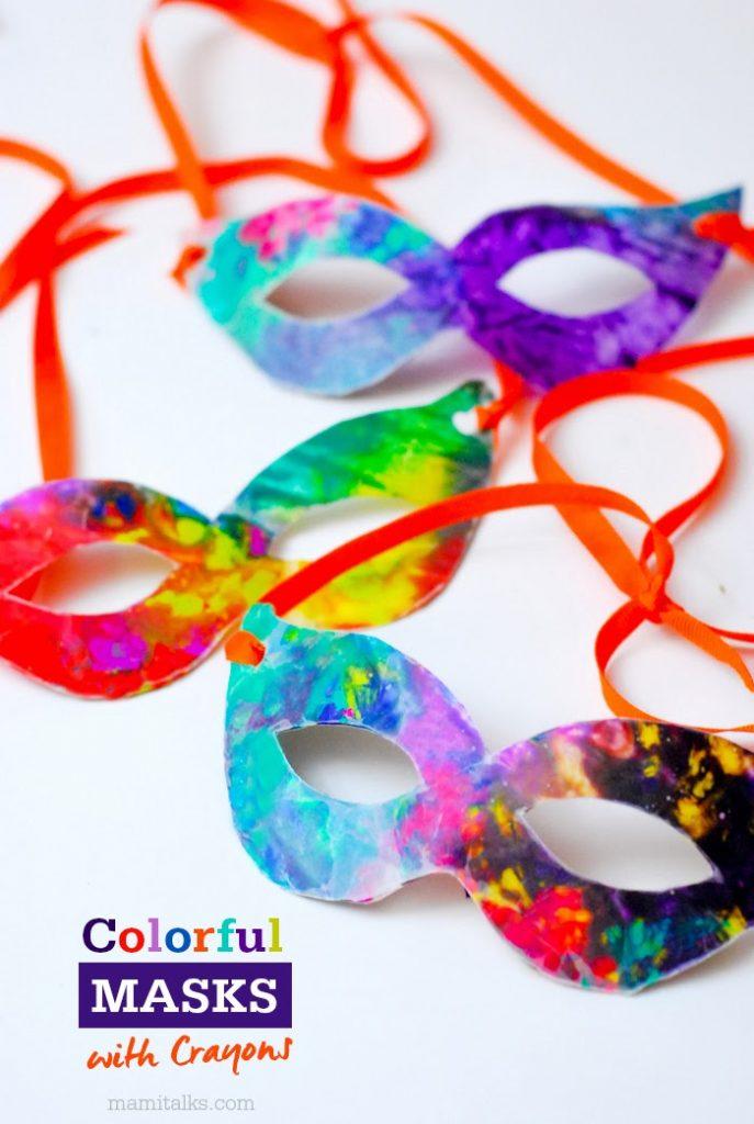 Máscara fácil de hacer con niños para Carnaval