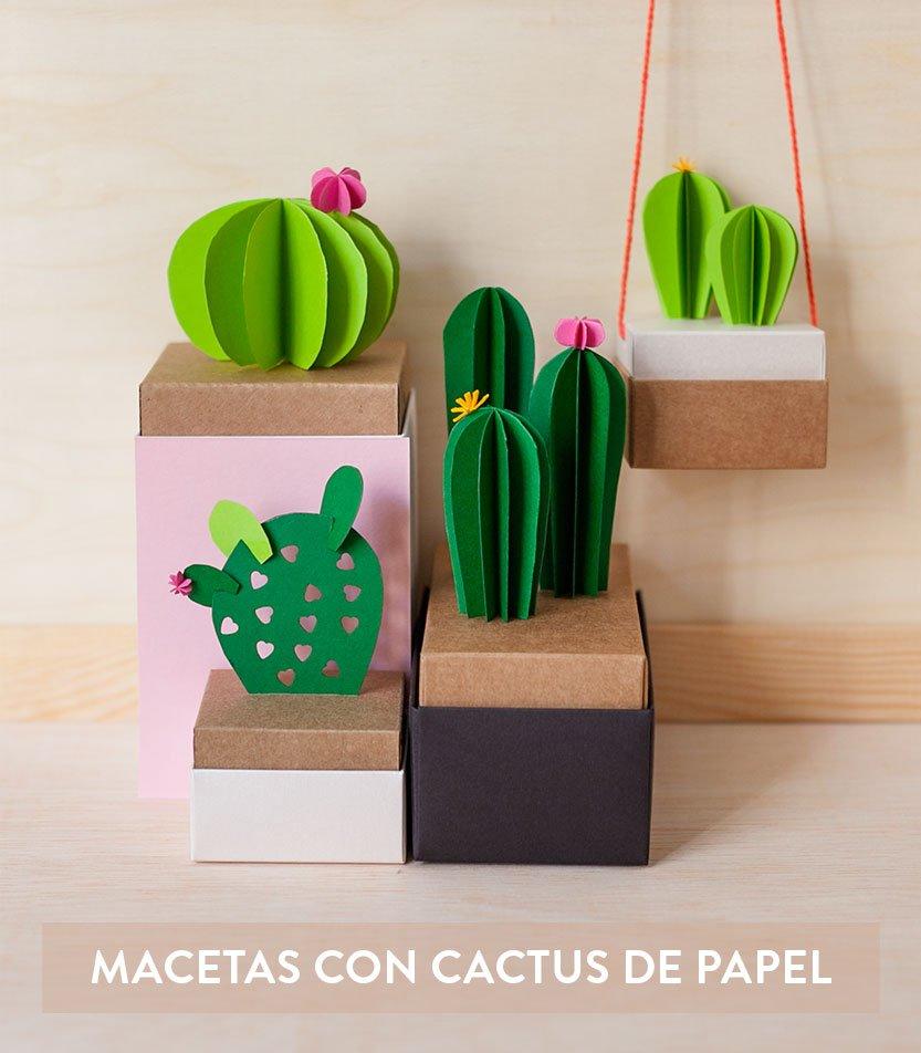 Cactus hechos con papel