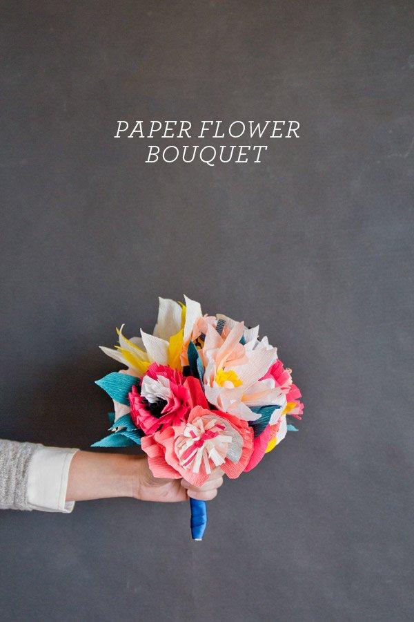 Ramos de flores hecho con papel pinocho