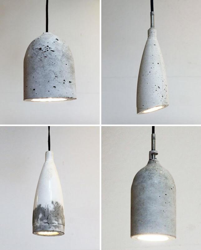 lmpara diy de cemento