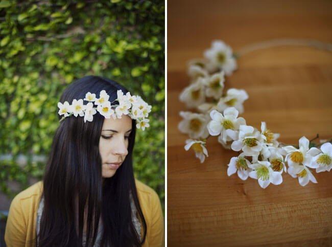 Tocado de flores para boda