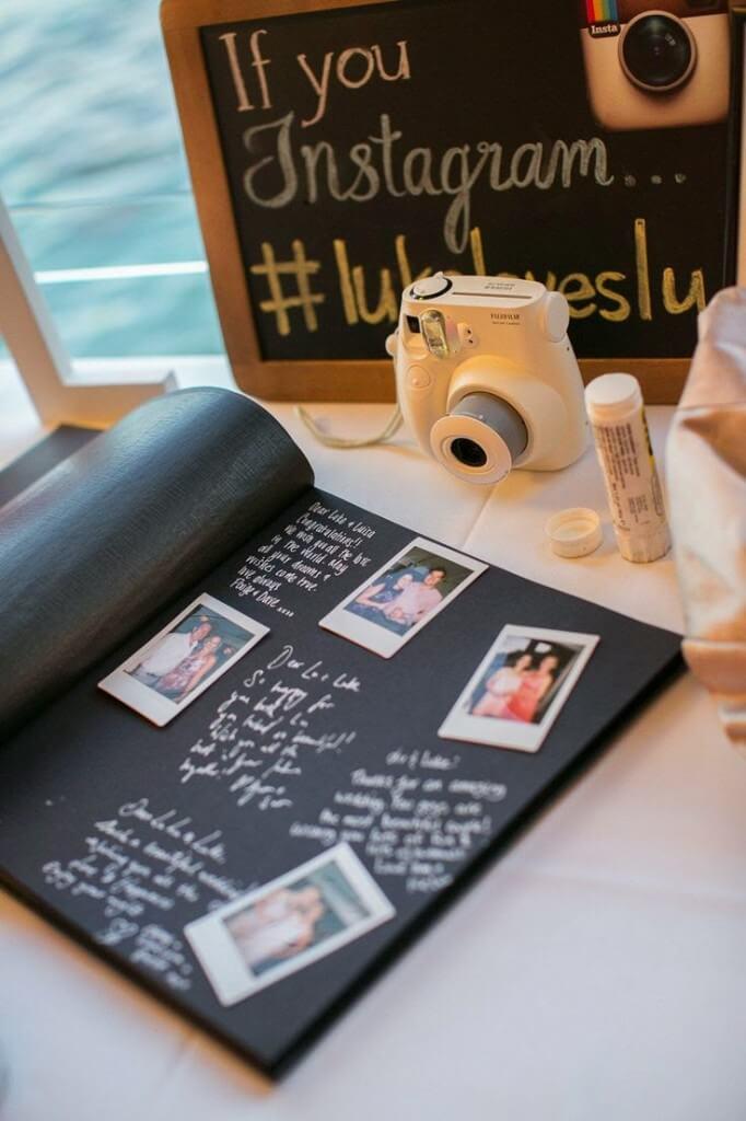 Álbum de bodas con fotos instantáneas