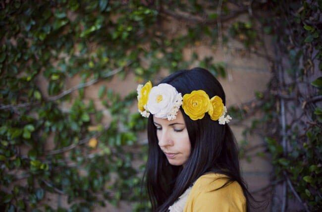 Tocado de flores para bodas diy