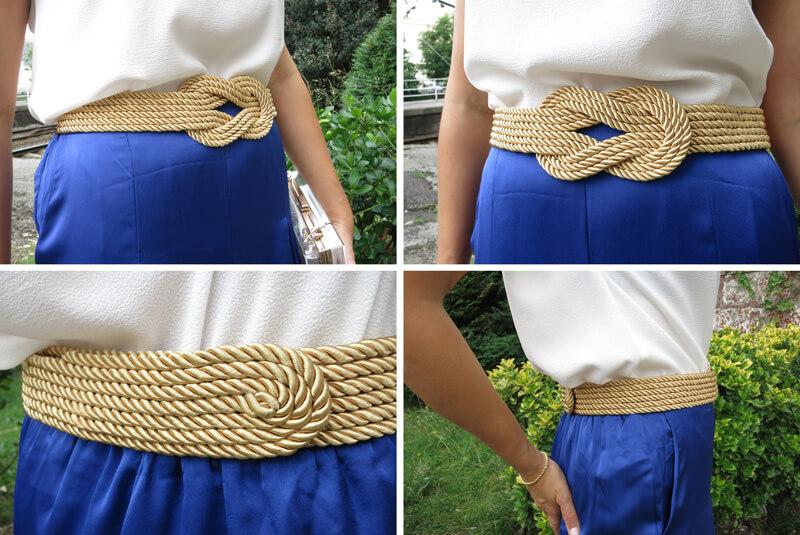 Cinturón dorado DIY para bodas