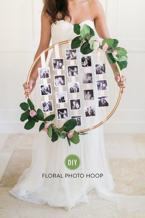 Aro diy con fotos de boda