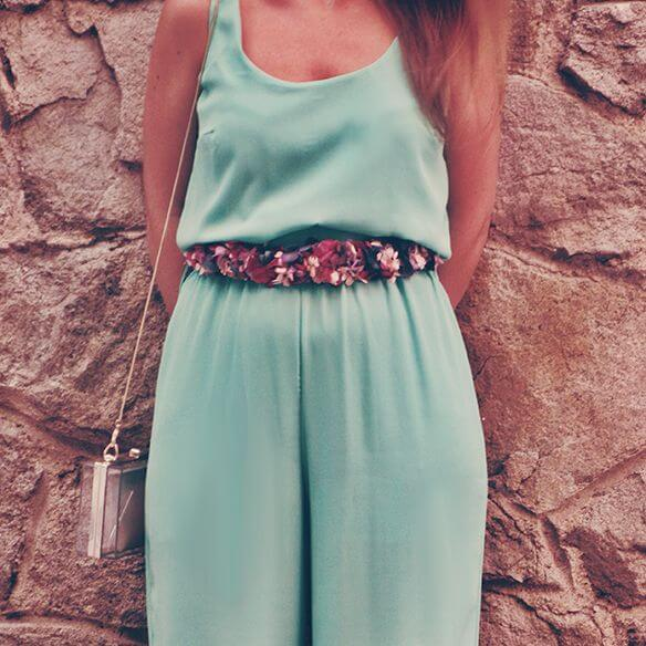 Customiza tu cinturón de flores complemento de boda temporada primavera verano
