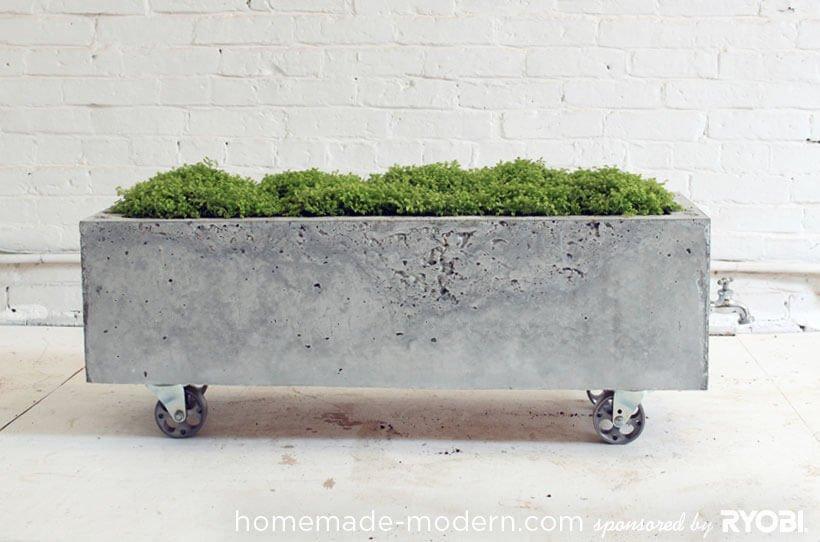 jardinera de cemento