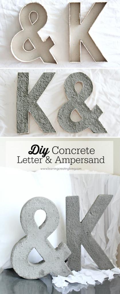 letras decorativas de cemento