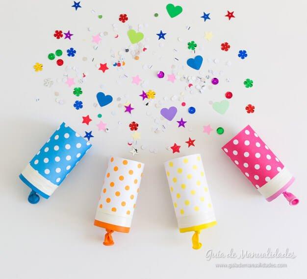 tubos de papel lanza confetti