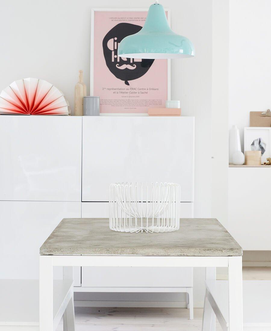mesa de centro diy hecha con cemento