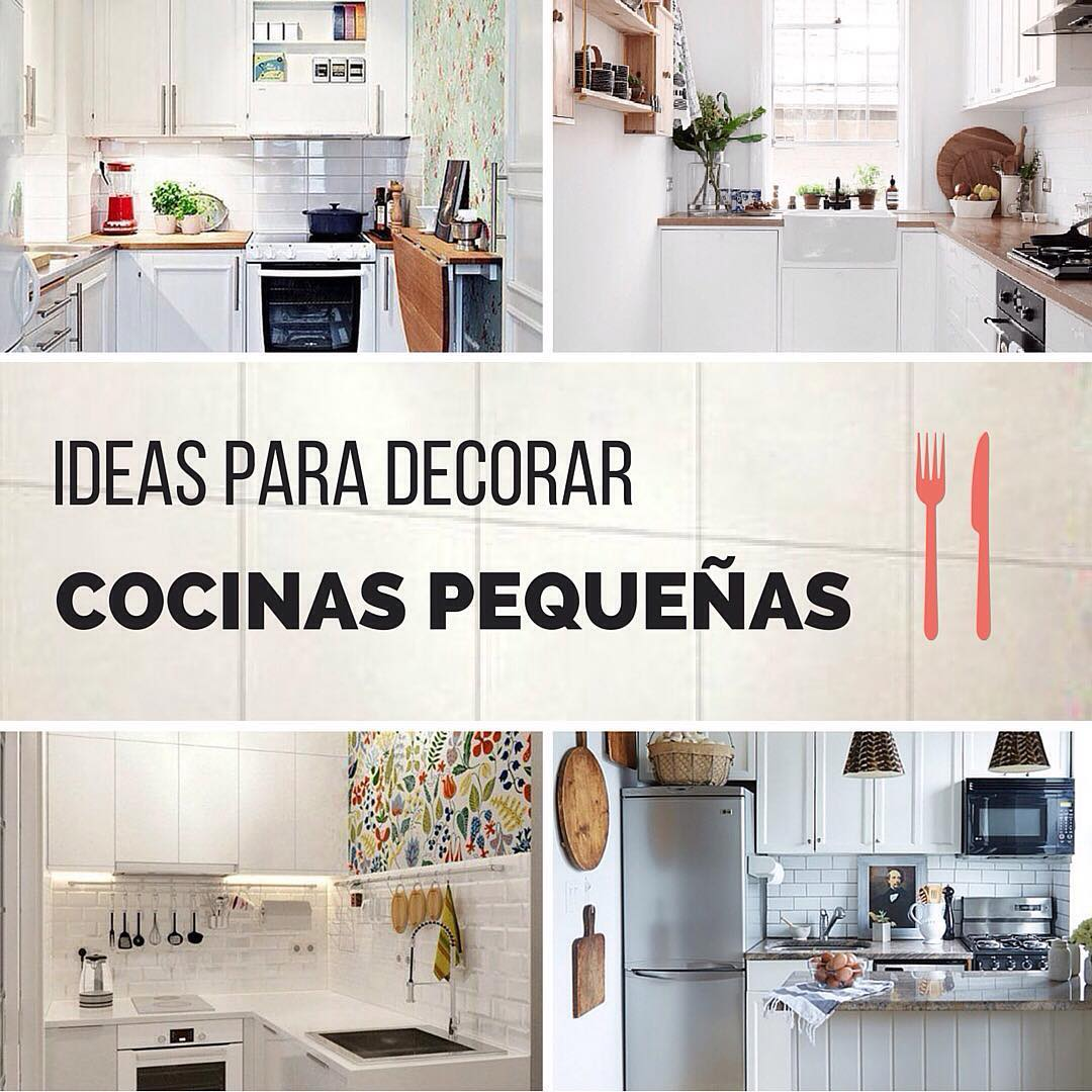 Ideas con estilo para decorar cocinas peque as handfie for Fotos cocinas pequenas
