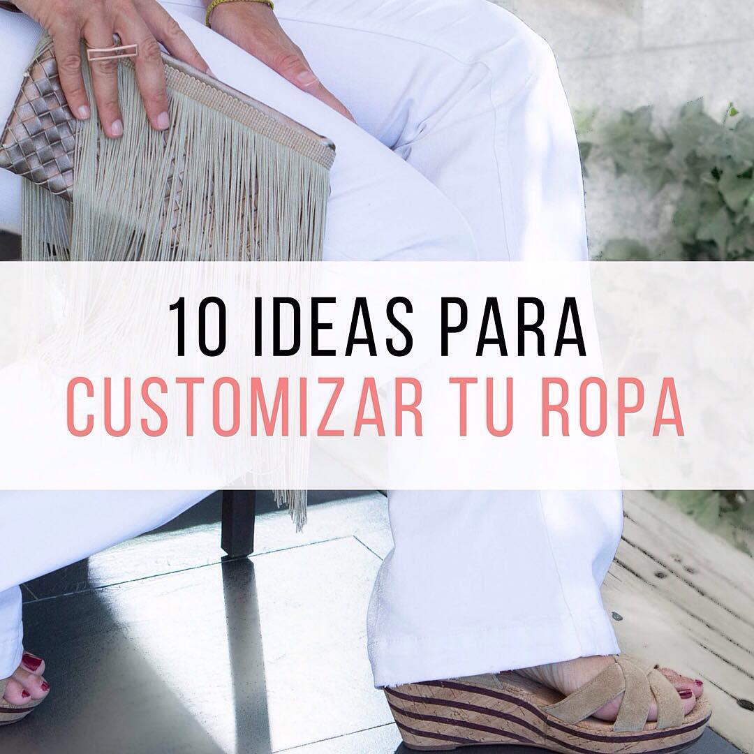 ideas para customizar ropa DIY