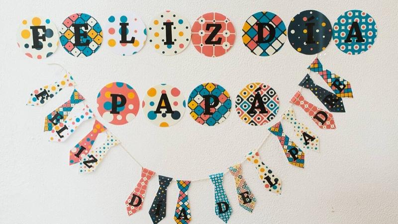 Guirnaldas decorativas Día del Padre