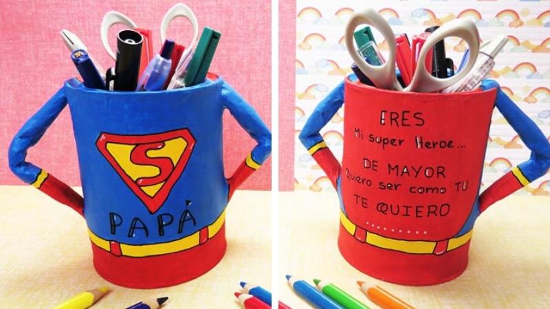 Portalápices personalizados de superhéroes