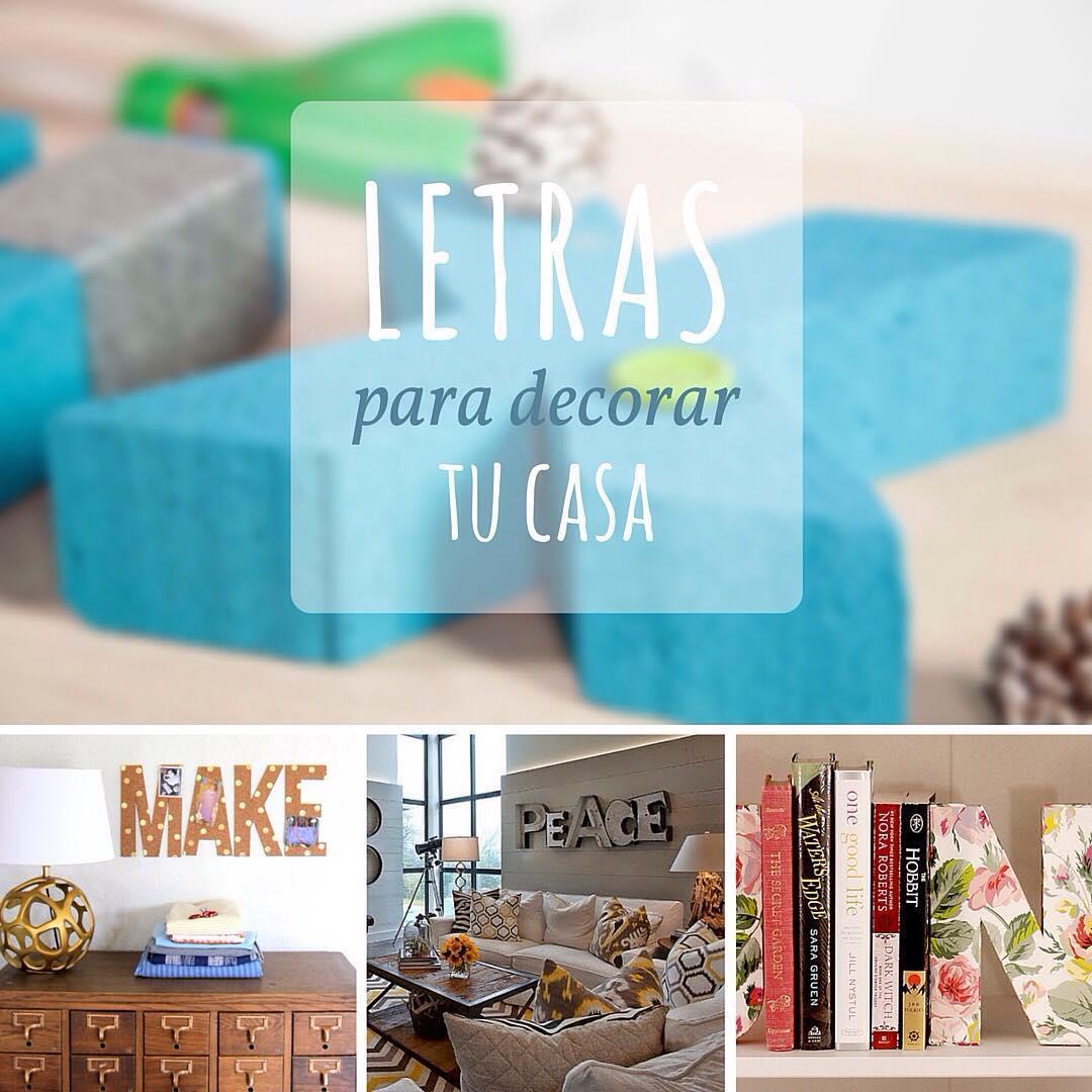 letras decorativas DIY