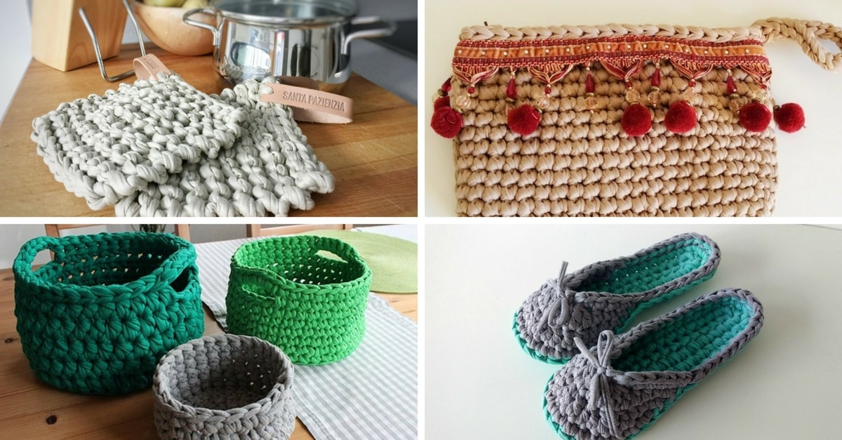 Manualidades con trapillo 21 ideas de todo tipo handfie diy - Manualidades y bricolaje para el hogar ...