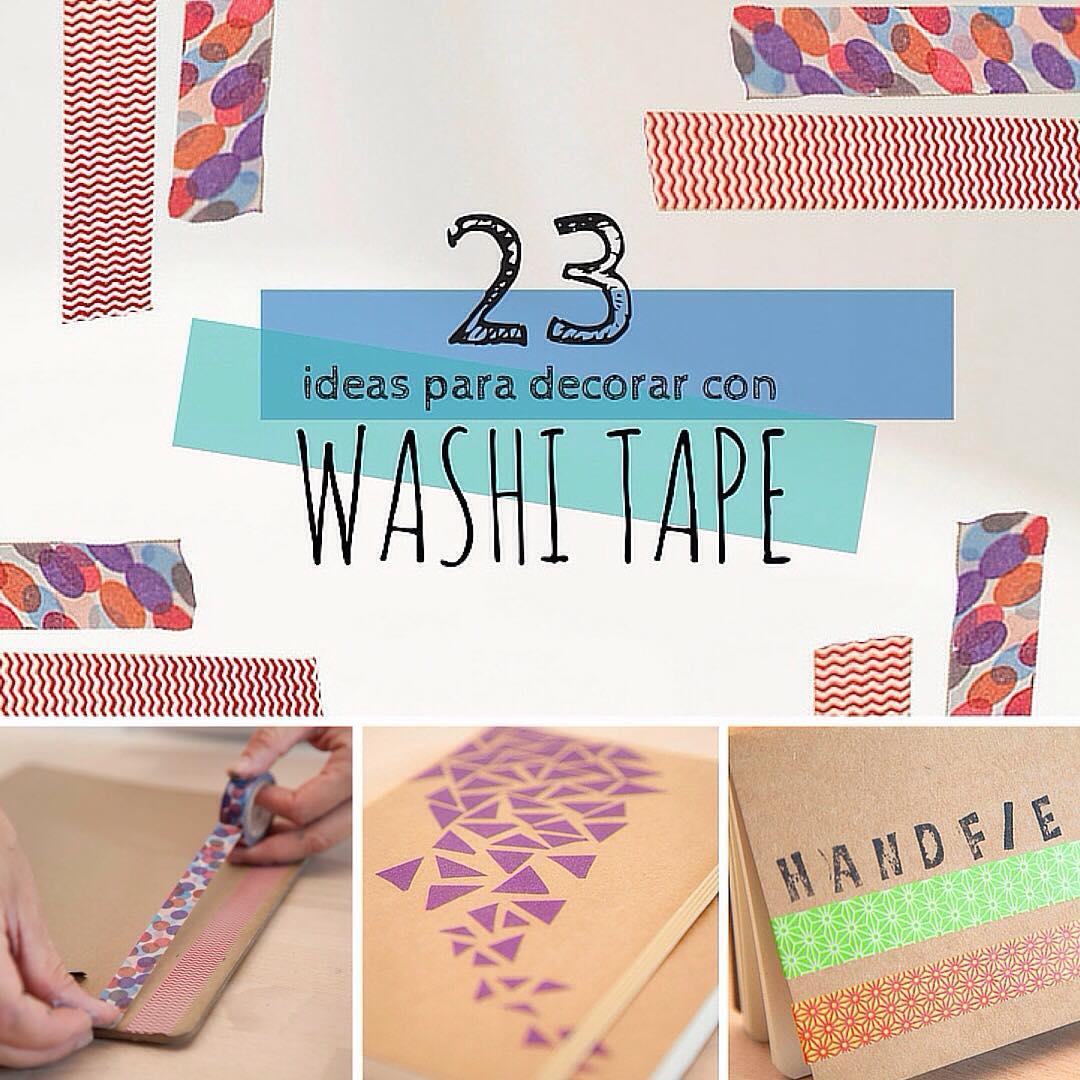 Washi tape 23 ideas geniales para decorar handfie - Decorar con washi tape ...