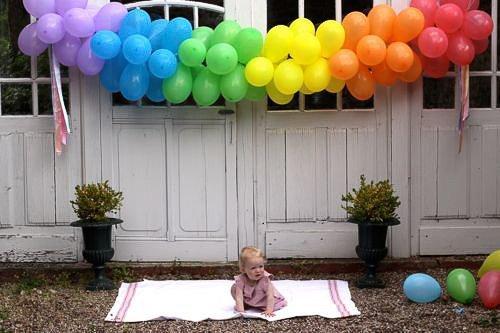 Arcoiris con globos