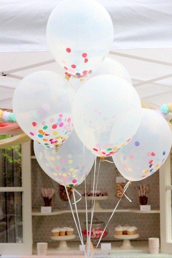 Globos con confeti para fiestas baby shower