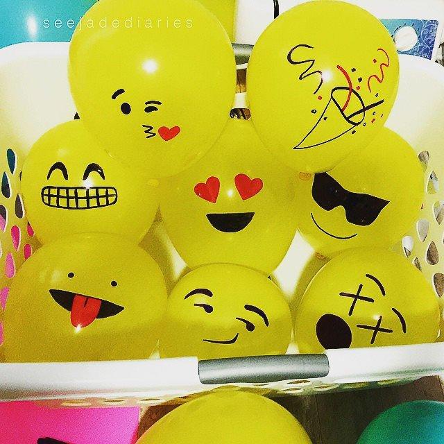 Globos con emoticonos emojis