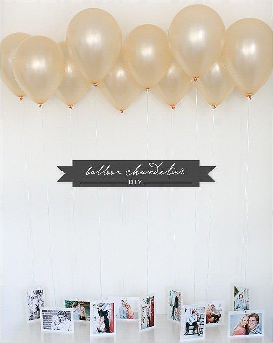 Fotos en la pared con globos para fiestas