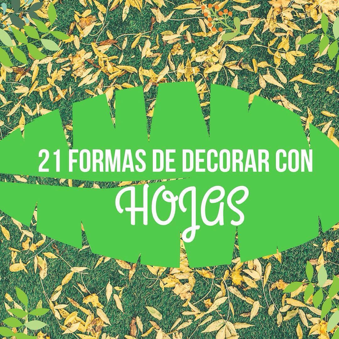 21 formas de decorar tu casa con hojas handfie diy for Maneras de decorar tu casa
