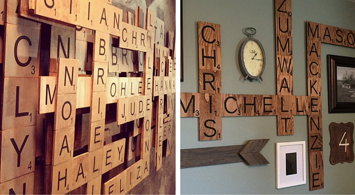 8 ideas originales para decorar paredes de casa handfie - Letras scrabble para decorar ...