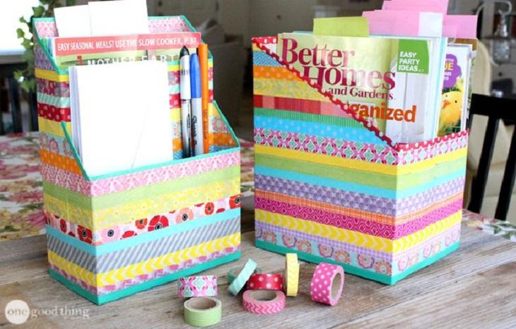 24 manualidades para hacer con cajas de cart n handfie - Cajas grandes de carton decoradas ...