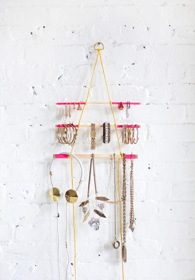 25 joyeros diy que puedes hacer en casa handfie diy - Colgador de collares ikea ...