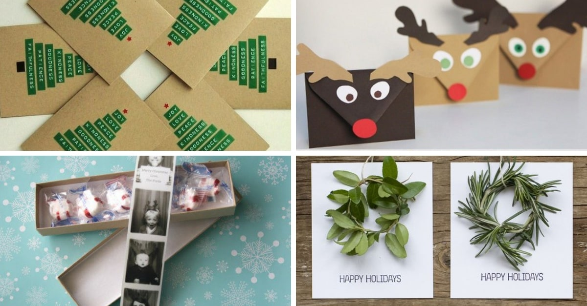 15 Tarjetas De Navidad Hechas A Mano Muy Muy Originales