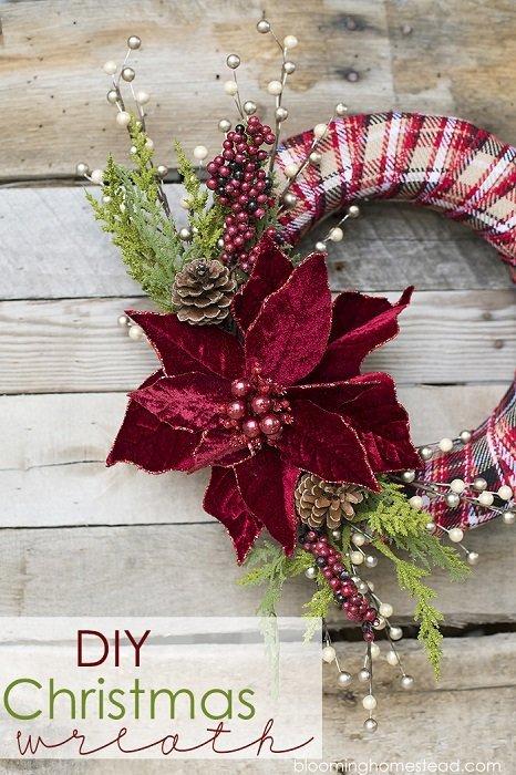 Coronas De Navidad Originales 21 Ideas Para Hacer Coronas Navideñas
