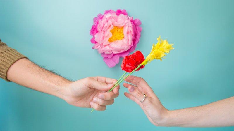 Manualidades Faciles Para San Valentin Flores Diy Handfie Diy - Como-hacer-una-flor-de-lana