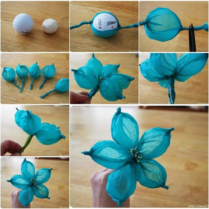 Manualidades faciles san valentin flores azul diy papel - Trabajos manuales faciles para hacer en casa ...