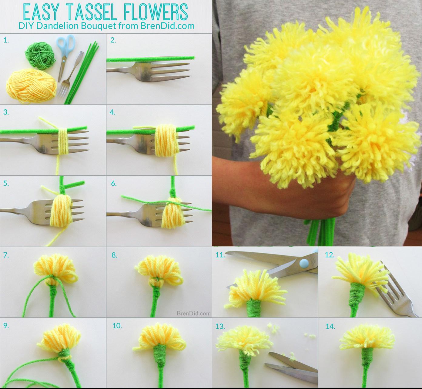 Manualidades f ciles para san valent n flores diy for Manualidades para ninos con lana
