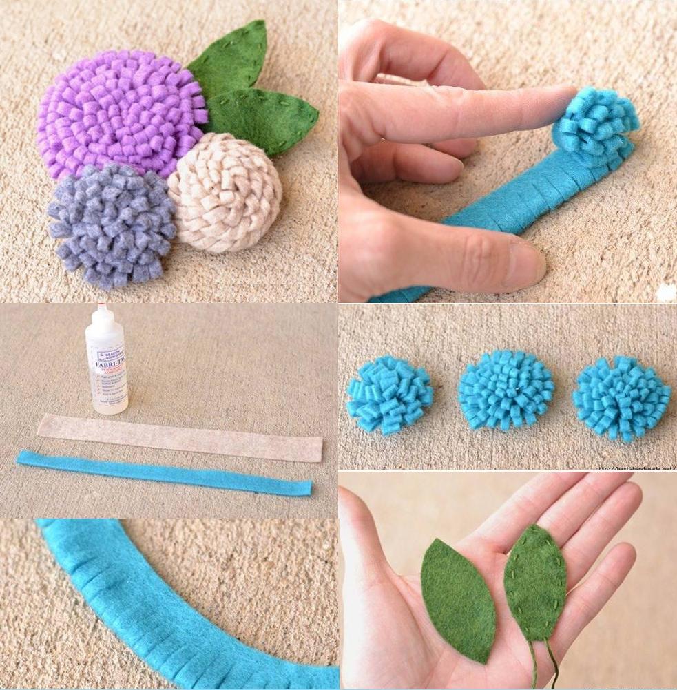 Manualidades faciles san valentin flores diy handfie ortensia fieltro lila handfie diy - Como hacer manualidades faciles ...