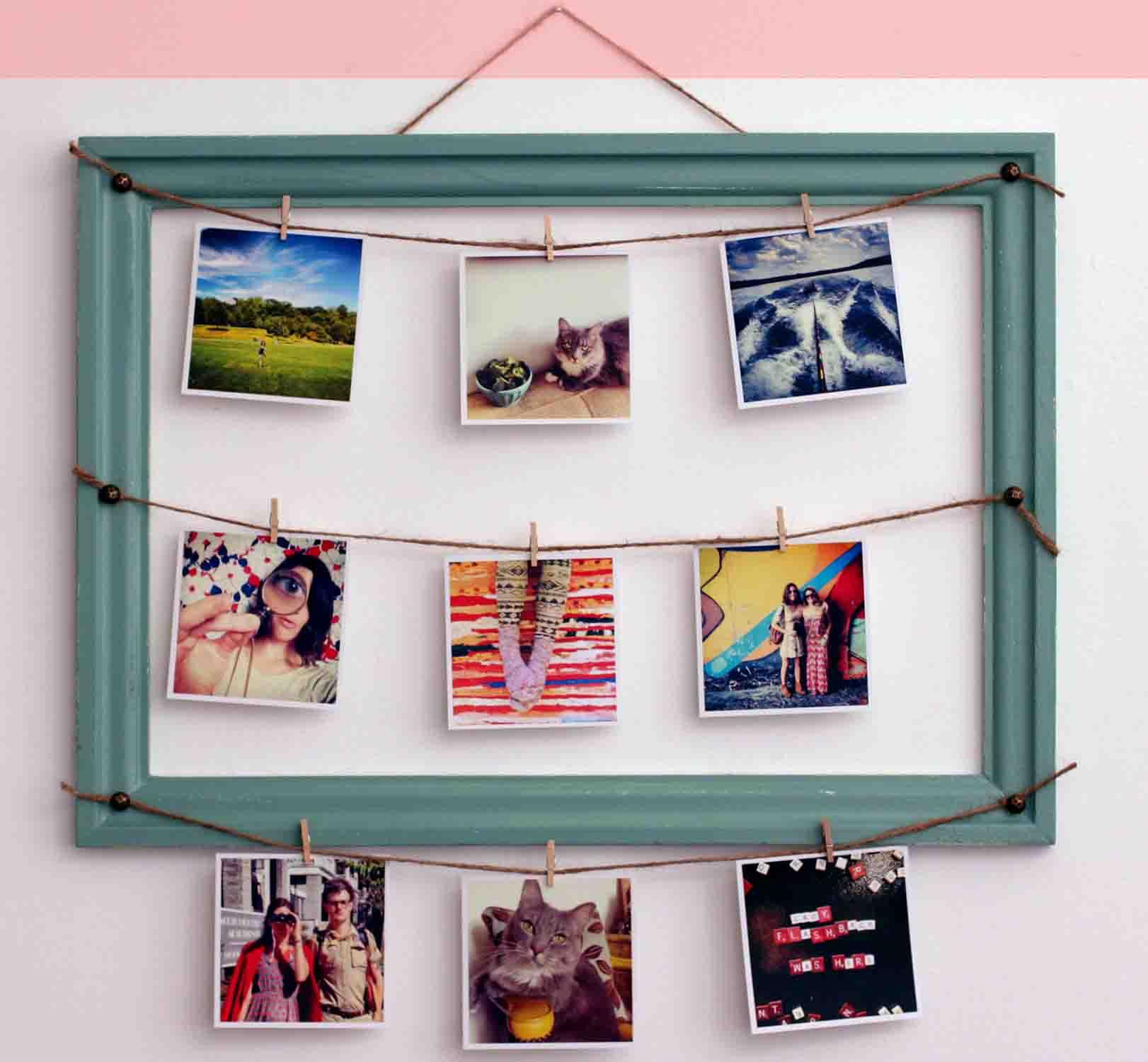 7 ideas geniales para decorar con marcos handfie - Marcos de fotos para colgar ...