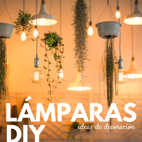 Ideas de decoraci n 14 l mparas diy para tu casa for Ideas faciles para la casa