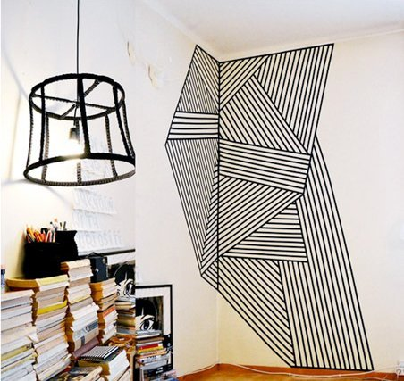 Ideas de decoraci n con cinta adhesiva negra handfie diy - Pintar facil paredes ...