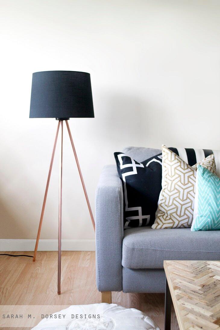 Ideas de decoraci n 14 l mparas diy para tu casa handfie diy - Telas decorativas para paredes ...