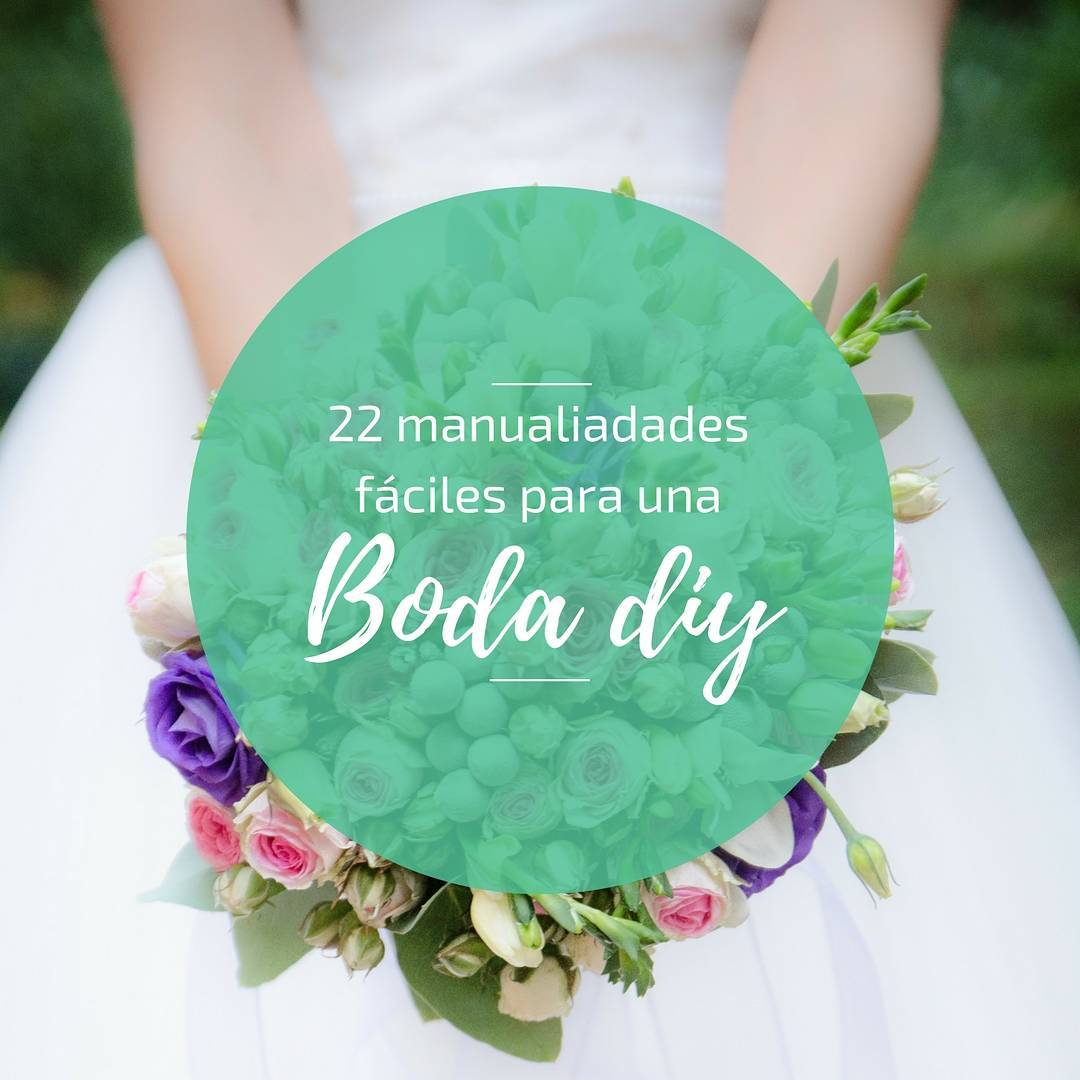 Manualidades fáciles: 22 ideas para una boda DIY