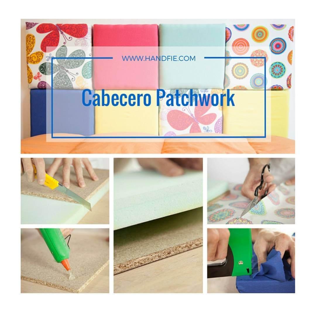 Cabecero estilo patchwork handfie diy - Estilo patchwork ...