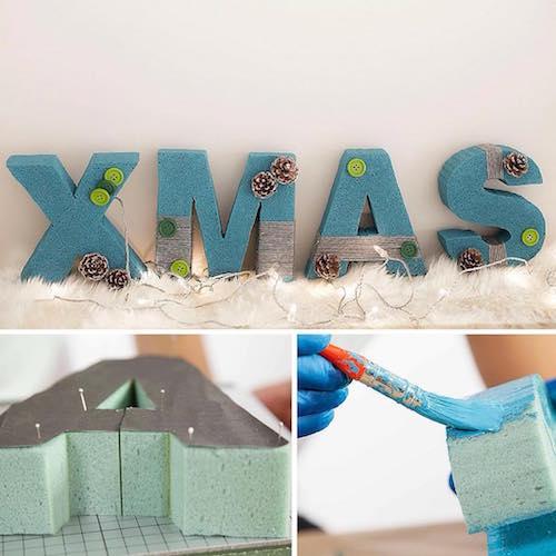 Letras de corcho para decorar en navidad handfie diy for Letras decoracion ikea