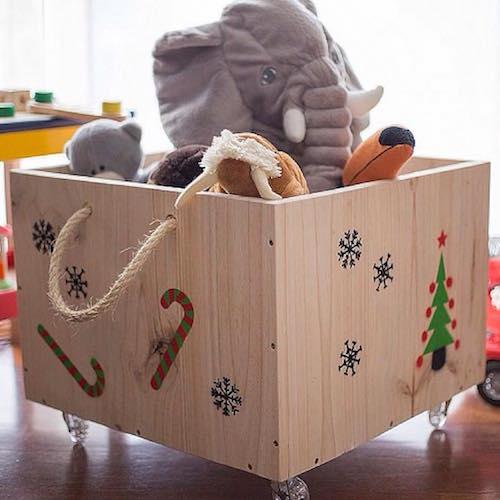 Caja con ruedas para guardar juguetes handfie diy - Cajas para almacenar juguetes ...