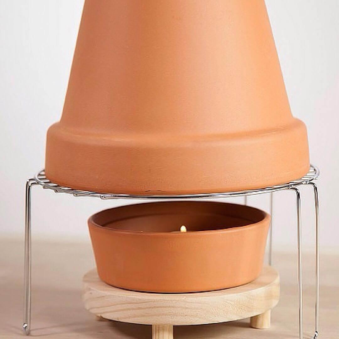 Estufa casera low cost handfie diy - Calefaccion con velas ...
