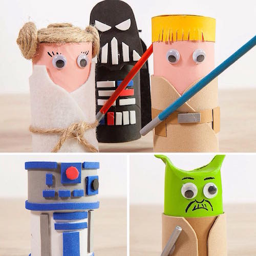 Mu ecos de star wars de cart n handfie diy for Star wars arts and crafts